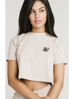 SIKSILK RETRO BOX FIT CROP TEE