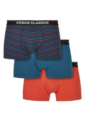 Boxer Shorts 3-Pack mini stripe aop+boxteal+boxora